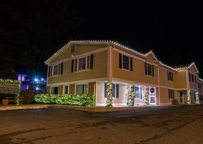 Local Wynantskill business decorated for Christmas by professional decorators