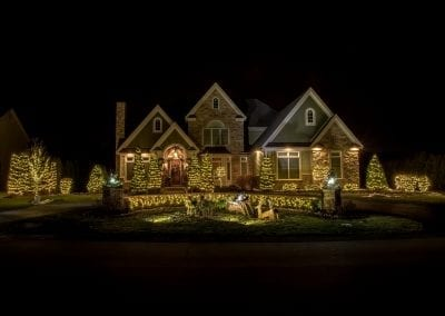 Thousands of Christmas lights decorated for a home in Albany new york