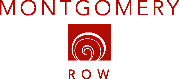 logo of montgomery row decorated by the christmas guys